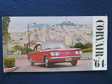 CHEVROLET CORVAIR 1964 Sales Brochure 12 Pg Monza Spyder 700 500 Club Coupe VG