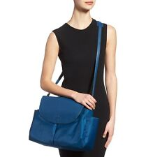 Tory Burch 'Thea' Medium Messenger Leather & Nylon Blue Baby Handbag $395+