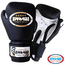 4 oz Kids Boxing Gloves Junior Mitts mma Synthetic Leather Sparring Gloves Black