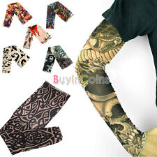 1pcs Men Tattoo Sleeves Fake Body Temporary Arm Leg Stocking HFUS