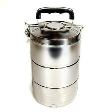STAINLESS STEEL INSULATED 3 TIER LUNCH BOX 1.8 liter 60 oz Bento Tiffin Stacking