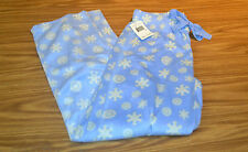 Nautica Women's Fleece Lounge/PJ Pants-BLUE SNOWFLAKE 4VB-SMALL-NWT