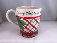 Fitz and floyd merry christmas y'all coffee tea cup mug holly