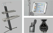 SK102KIT Keyboard Piano Synth Two Double Dual Tier Adjustable Stand + iPad stand