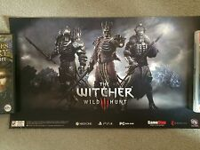 RARE - THE WITCHER 3 - WILD HUNT - OFFICIAL GAME PROMO POSTER - LIMITED EDITION