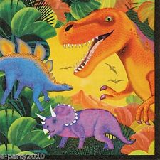 DINOSAURS Prehistoric Party LUNCH NAPKINS (16) ~ Birthday Supplies Serviettes