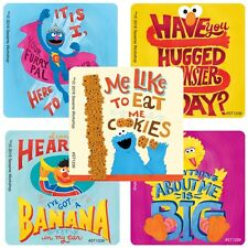 """30 Sesame Street Quotes Stickers, 2.5""""x2.5"""" ea., Party Favors"""