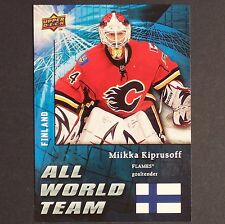 MIKKA KIPRUSOFF 2009/10 Upper Deck All World Team #AW24 Calgary Flames single