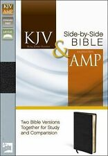 KJV and Amplified Side-By-Side Bible Black (2011, Bonded Leather) BRAND NEW