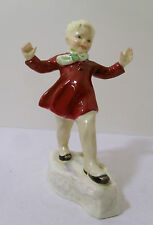 "ROYAL WORCESTER HP FIGURINE ""JANUARY"" #3452 - DATE CODE 1959"
