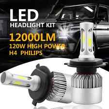 PHILIPS COB H4 HB2 9003 120W 12000LM LED Headlight Kit Hi/Lo Power Bulbs 6500K