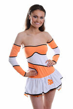 WOMENS LADIES SEXY FINDING NEMO CLOWNFISH FISH COSTUME HEN FANCY DRESS OUTFIT