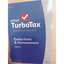 TurboTax Deluxe 2014 Fed + Fed Efile Tax Software