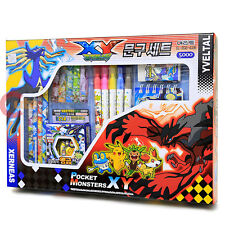 Pokemon XY Stationary Gift Box 26pc Set Coloring Pencil Note Set