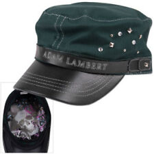 ADAM LAMBERT Green & Black MILITARY STYLE / CADET Cap Hat NEW