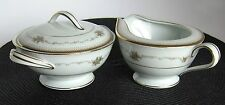 NORITAKE CHINA JOANNE JAPAN 6466 Sugar Bowl & Creamer MINT CONDITION