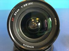 Minolta 24mm f2.8 Prime AF Autofocus Lens For Sony Alpha 'A' Mount S/N 56191332