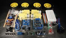 Ultimate UNO R3 DIY 4WD Robot Car Starter Beginner Kit with Bluetooth Arduino
