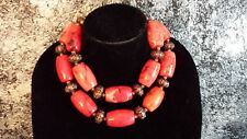 Big Bold Chunky GYPSY Statement Necklace HUGE BEADS Vogue Couture FUN
