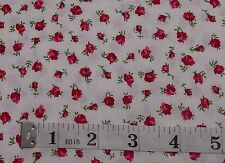 Stof Quilters Basics Rose bud Fabric, fat quarters,100% cotton, STOF, 4517Kwhite