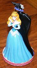 """Walt Disney Sleeping Beauty in Blue & Maleficent Back to Back 5 1/2"""" Figurine!"""