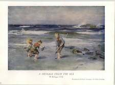 1930 W Mctaggart A Message From The Sea Art Print