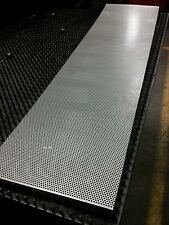 "Perforated stainless steel 18ga 1/8"" holes 11"" x 48"" blank. Grill bumper valance"