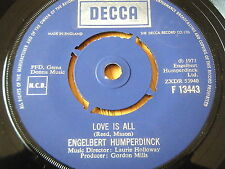 "ENGELBERT HUMPERDINCK - LOVE IS ALL  7"" VINYL"