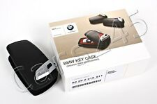 Genuine BMW OEM Key Fob Holder Bag Cover Case BLACK 1 3 4 5 6 7 Series X3
