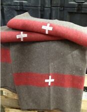 (10) Replica Swiss Army Blankets Wool Camping Blankets at wholesale price