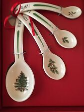 New in Box Set of 4 Spode Christmas Tree Measuring Spoons - Exclusive