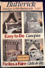 5481 Butterick Sewing Pattern Canopies Valances Curtains for Beds Home Decor NEW