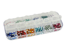 New 3000 Nail Art Gems   12 Colors Pearl Beads   White Pearl Nail Art Stone
