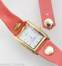 La Mer Collections Wanderlust Women's Watch Triple Wrap Vinyl Pink Strap