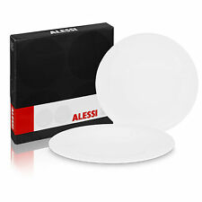 Alessi KU Set of 6 Modern Porcelain Design Dinner Plates Tableware Fancy Dining