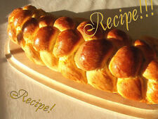 """☆Braided☆Challah Bread """"RECIPE""""!☆Great With Meals or for Bread Pudding!☆"""