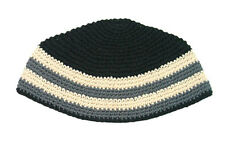 BIG JEWISH KIPPAH WITH STRIPES - yarmulka/yarmulke/hat/knit/yamaka/hat judaism