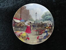 St. Andrews China Collectors Plate - Victorian Market Flower Seller. horse cart