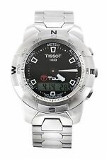 Tissot T-Touch T33.1.588.51 mens steel quartz multi function watch, 100% genuine