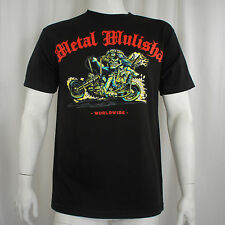 METAL MULISHA Bob Skeleton Drag Racing Motorcycle T-Shirt M NEW