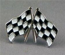 CHEQUERD FLAGS MOTOR BIKE PIN BADGE NEW