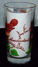 """Boscul Peanut Butter *MEADOW LARK* BIRD* 5"""" WATER GLASS"""