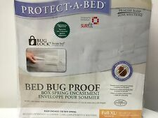 "NEW,PROTECT A BED NEW BED BUG PROOF BOX SPRING ENCASEMENT FULL XL 53"" X 80"" X 9"""