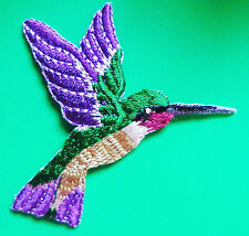 embroidered iron on applique-HUMMINGBIRD small