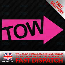 TOW HOOK ARROW FIA Funny Car Van Bumper RACING JDM DUB Vinyl Decal Sticker