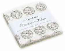"Darling Little Dickens Moda Charm Pack 42 100% Cotton 5"" Precut Quilt Squares"