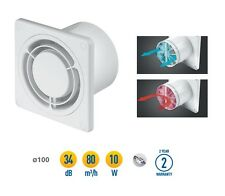 "Bathroom Extractor Fan 100mm / 4"" with Non Return Valve White Ventilator WWR100"