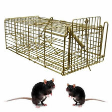 Large heavy duty métal pest control piège à rat souris catcher facile appât humane cage
