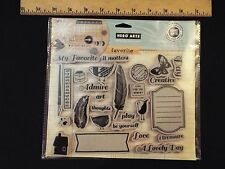 NEW-hero arts cling rubber stamps set-my favorite-stamp your story-love-creative