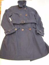 NWT Womens TOMMY HILFIGER Wool Blend Long Belted Peacoat Coat Jacket Navy Blue L